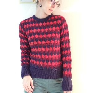 Vintage Sweaters - V I N T A G E Judy's Knit Winter Sweater